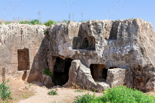 Canvas Tombs of the Kings near  Paphos Cyprus a 4th century BC necropolis, of burial ch