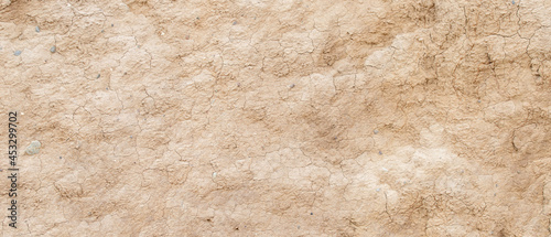 Photographie texture of clay ground surface background