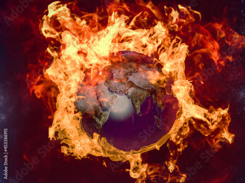 Fotografie, Obraz The infernal gorenje of the planet Earth, the Day of Judgment