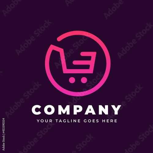 Online Shopping Logo Fotobehang