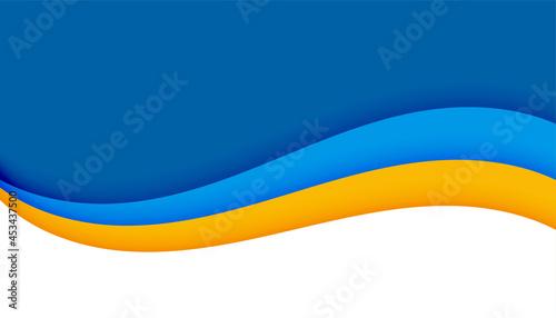 Foto wavy shape business background in paper cut style