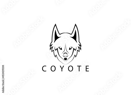 Canvas-taulu Logo design template, with coyote head icon