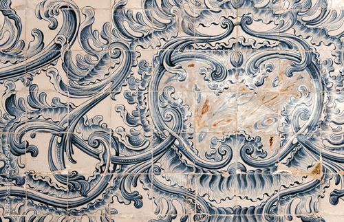 Foto Azulejos traditionnels anciens dans l'université de Coimbra, Portugal