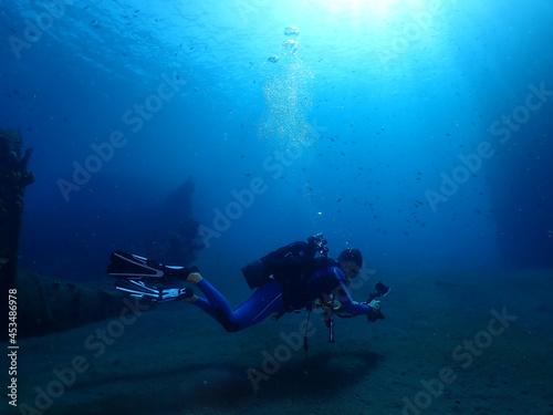Fotografie, Obraz scuba diver in the sea