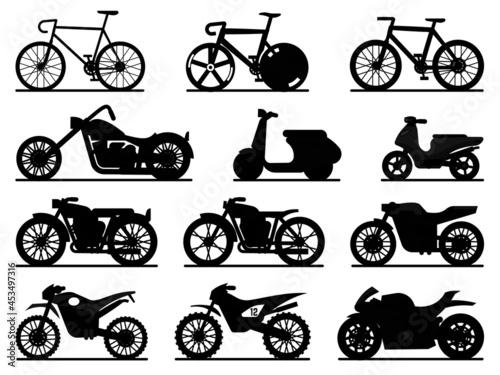 Canvastavla Motorbike black silhouettes