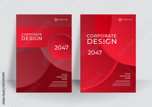Modern red abstract cover design template background. Vector vertical flyers with red paper cut waves shapes. 3D abstract paper style, design layout for business presentations, flyers, posters, prints