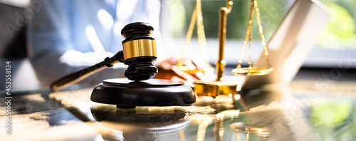Fotografie, Obraz Legal Court Technology At Trial