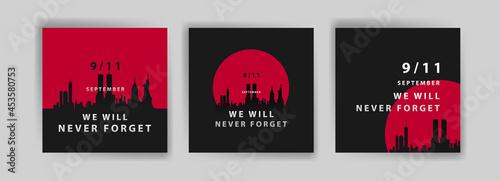 Valokuva Social media post template to commemorate the September 11 attacks