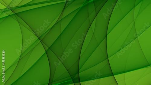 Abstrakter Hintergrund 4k grün hell dunkel schwarz Wellen Linien Wellness