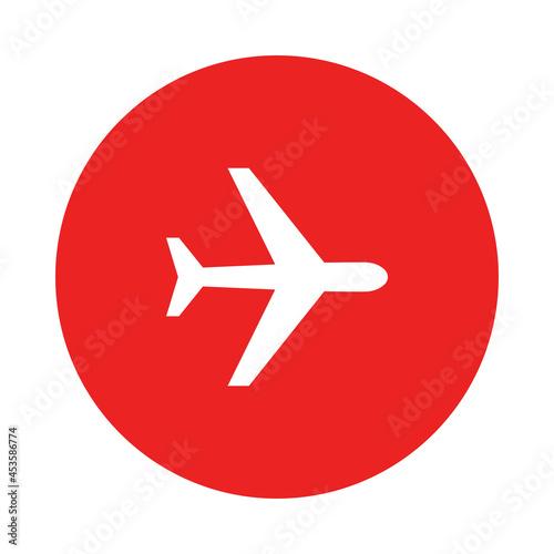 Flugzeug und Kreis Fototapet