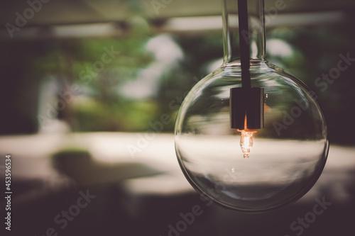 Fotografie, Obraz おしゃれな街灯と照明のイメージ