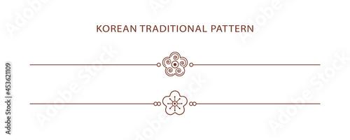 Fotografia Korean traditional line pattern