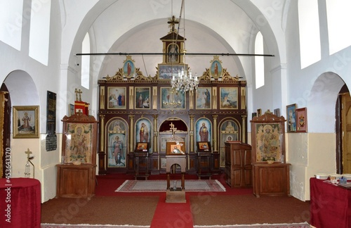 Canvastavla the interior of the old Serbian Orthodox Church