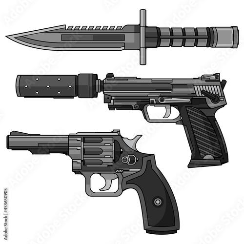 Fototapeta revolver gun vector