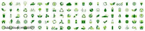 Canvas Print Ecology icon set
