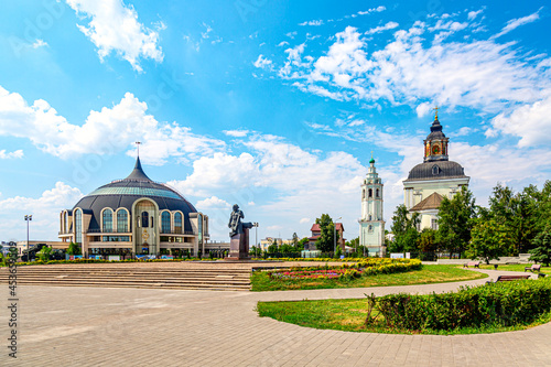 Foto Building of Museum of Weapons in town Tula, Russia.