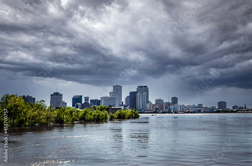 Fototapeta New Orleans with approaching Storm