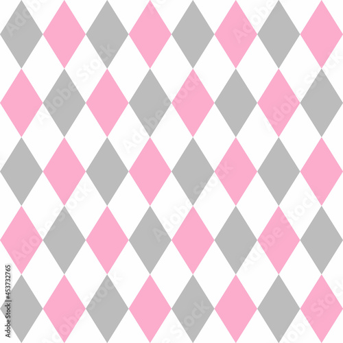 Wallpaper Mural Argyle pattern seamless background. Vector.
