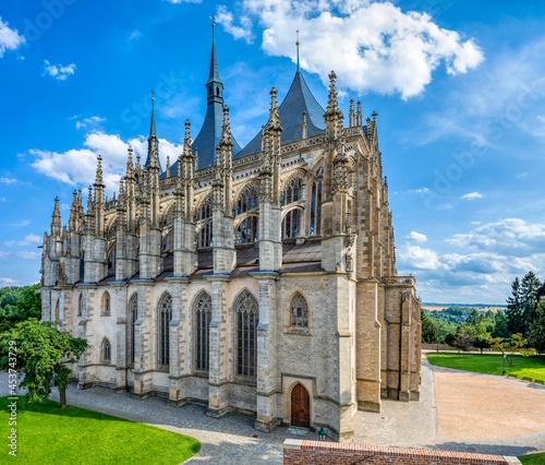 Fotografie, Obraz Saint Barbara's Cathedral, Church, Czech: Chram svate Barbory, is a Roman Cathol