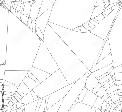 Fotografie, Tablou black isolated old spider web background