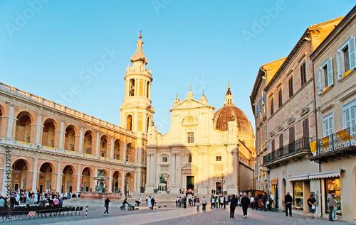 Slika na platnu The Square of Madonna in Loreto, Italy