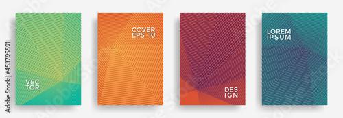 Fotografia, Obraz Hexagonal halftone pattern cover pages vector creative design.