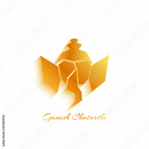 Photo Vector Illustration of Lord Ganpati abstract background for Ganesh Chaturthi festival of India