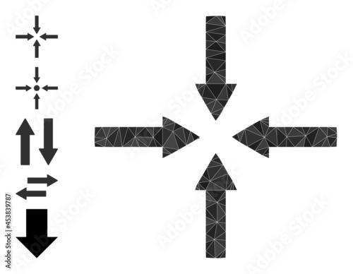 Valokuva Triangle shrink arrows polygonal symbol illustration, and similar icons