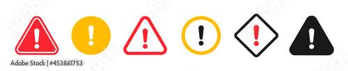 Fotografie, Obraz Caution signs. Symbols danger and warning signs.