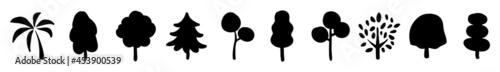 Foto Detailed tree silhouettes - Illustration