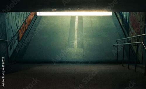 Fotografija Empty underground passage at night