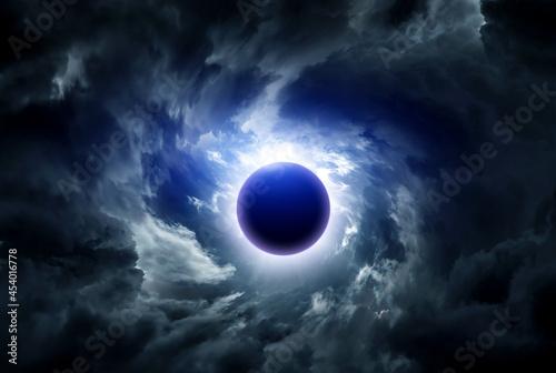 Fototapeta Eclipse in the Clouds