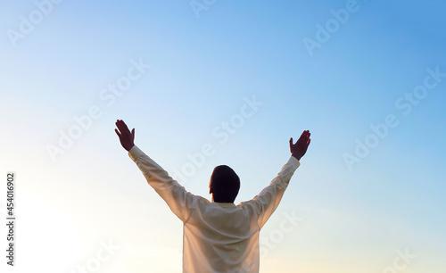 Fotografie, Obraz Man with Hands Up