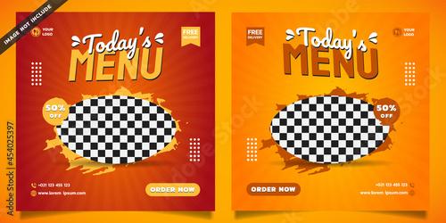Fototapeta today's menu social media template