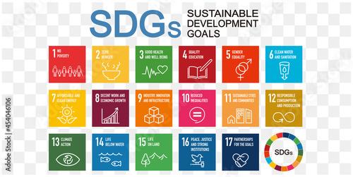 Obraz na plátně SDGs 17 development goals environment