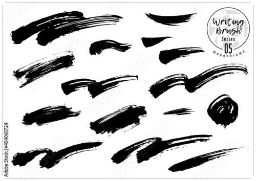 Obraz na plátně 波、筆、毛筆、ブラシのセット