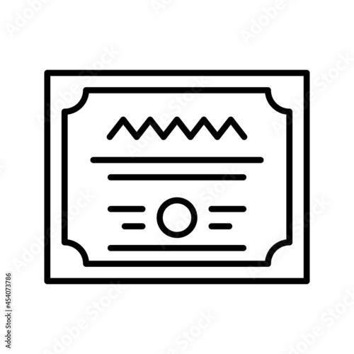Murais de parede Diploma icon vector set