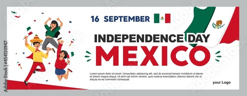 Fotografia mexican independence day illustration, september 16th poster for background