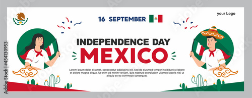 Fotografie, Obraz mexican independence day illustration, september 16th poster for background
