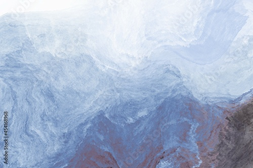 Billede på lærred Abstract background of liquid paint ice-ocean water fluid art