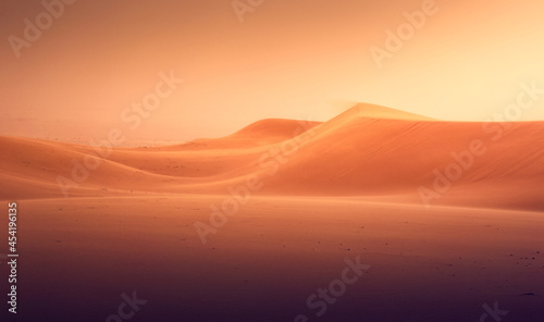 Tableau sur Toile sunset in the desert country