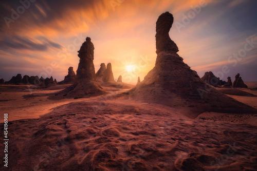 Fotografie, Obraz valley sunset