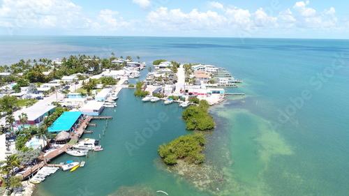 Fotografija Drone View of Conch Key Marathon Florida