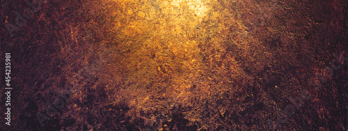 Fotografie, Obraz Rust and oxidized metal background, banner