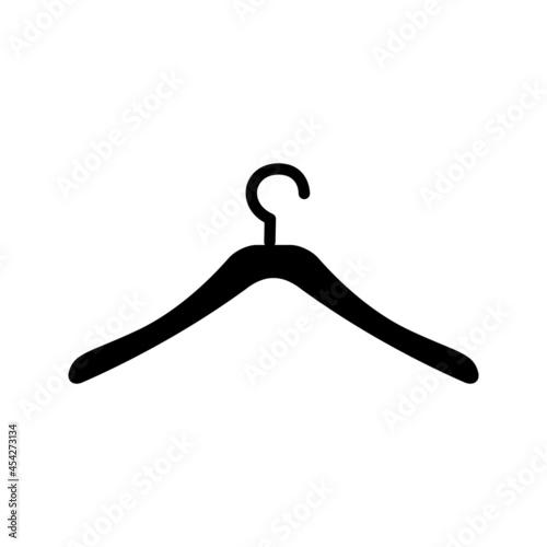 Wooden suit hanger vector icons set Fototapeta