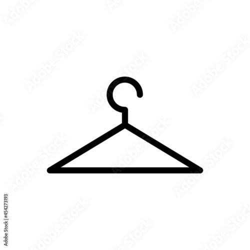 Fotografia Wooden suit hanger vector icons set