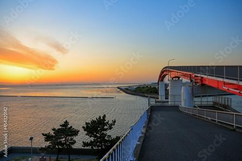 bridge at sunset Fototapeta