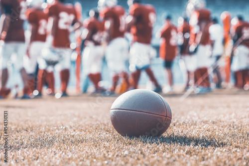 Fototapeta premium Close up of an american football