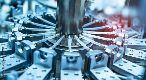 Obraz na plátně automatic and pneumatic piston unit on industrial machine,automation compressed
