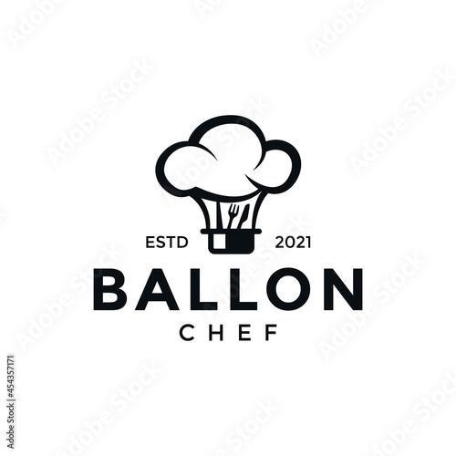 Fotografia Balloon chef logo, an for logo restaurants, bistros, bakeries
